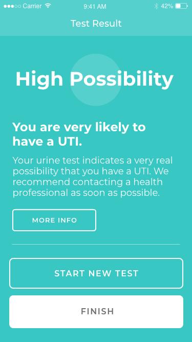 app negative results screen